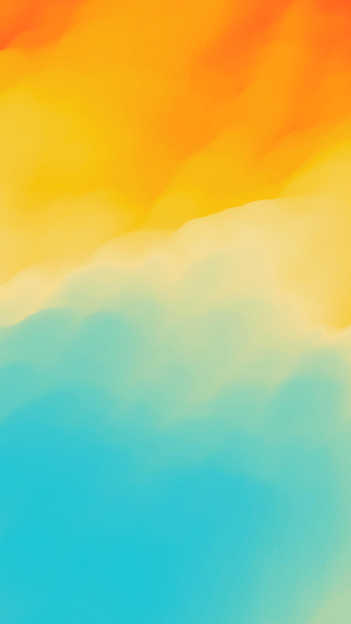 Dark Teal And Orange Wallpaper