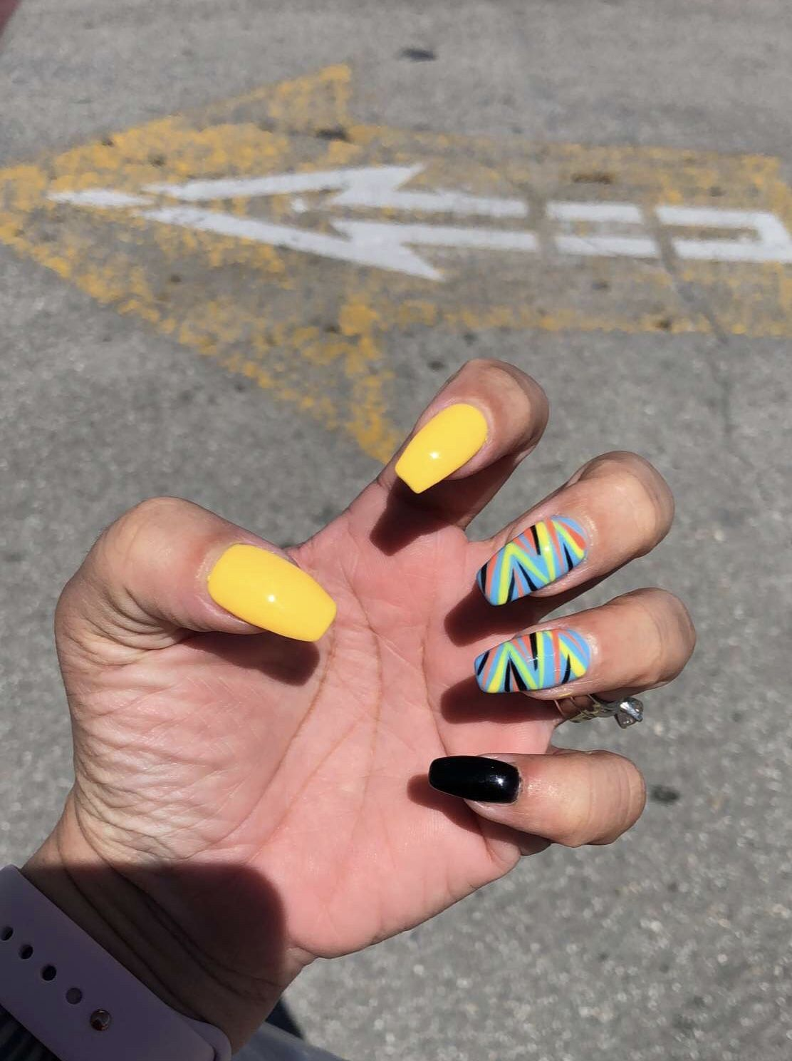 Nails Yellow Black Simple 36 New Ideas Yellow Nails Design Yellow Nails Gel Nails French