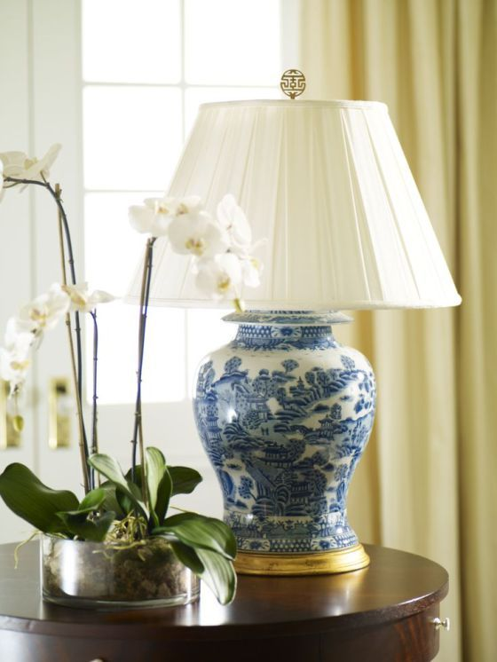 Pin On Blue And White Collection Ginger jar table lamp
