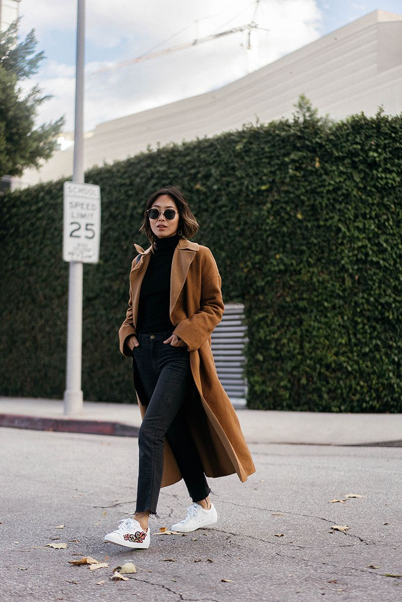 All Black with a Camel Coat | Song of Style