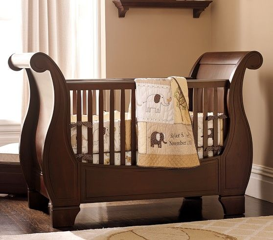 Babies · Larkin Fixed Gate Sleigh Crib