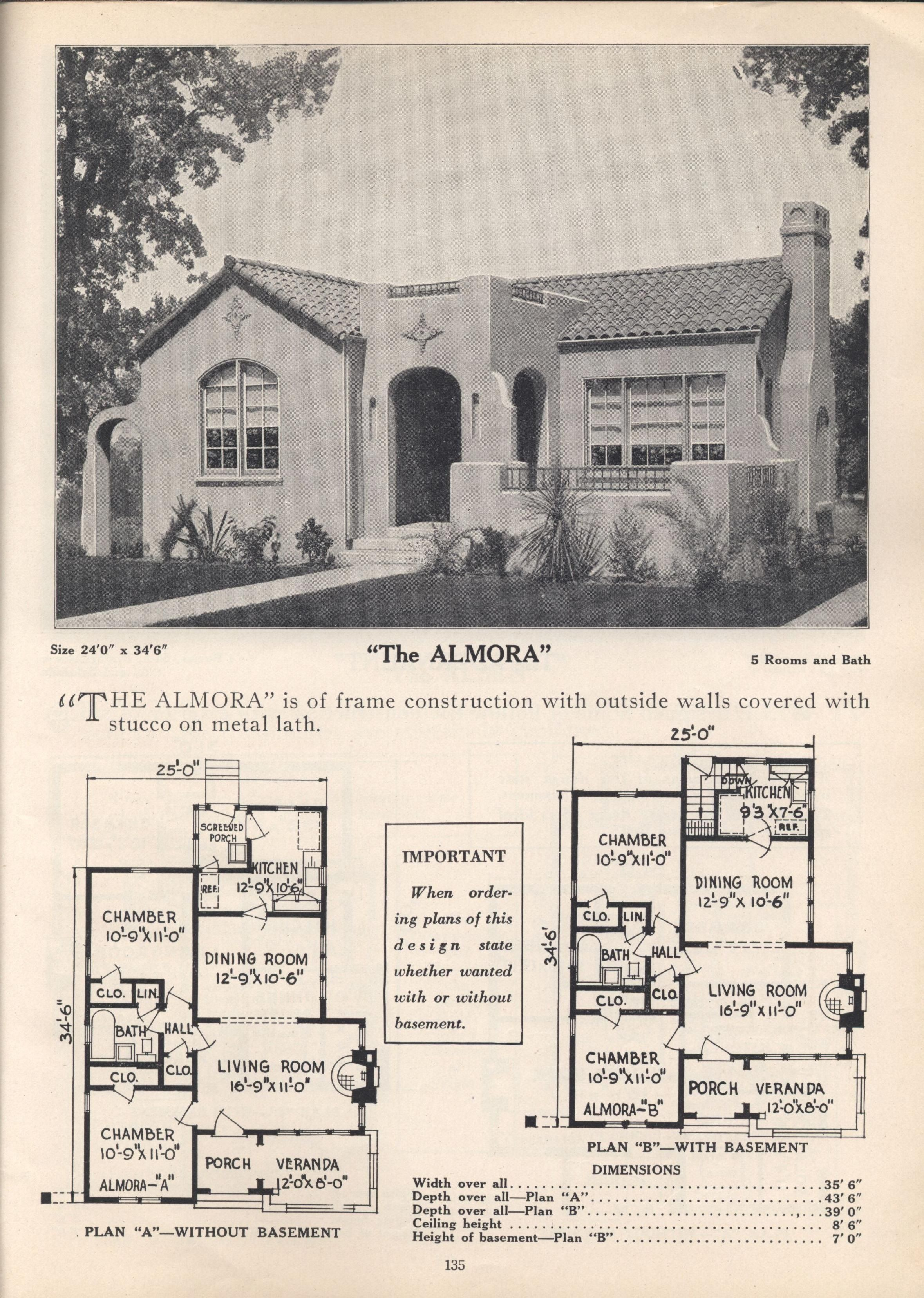 Pin By Whitney Gal On Houses Vintage Plans Spanish Style Homes Mediterranean House Plans Spanish Bungalow