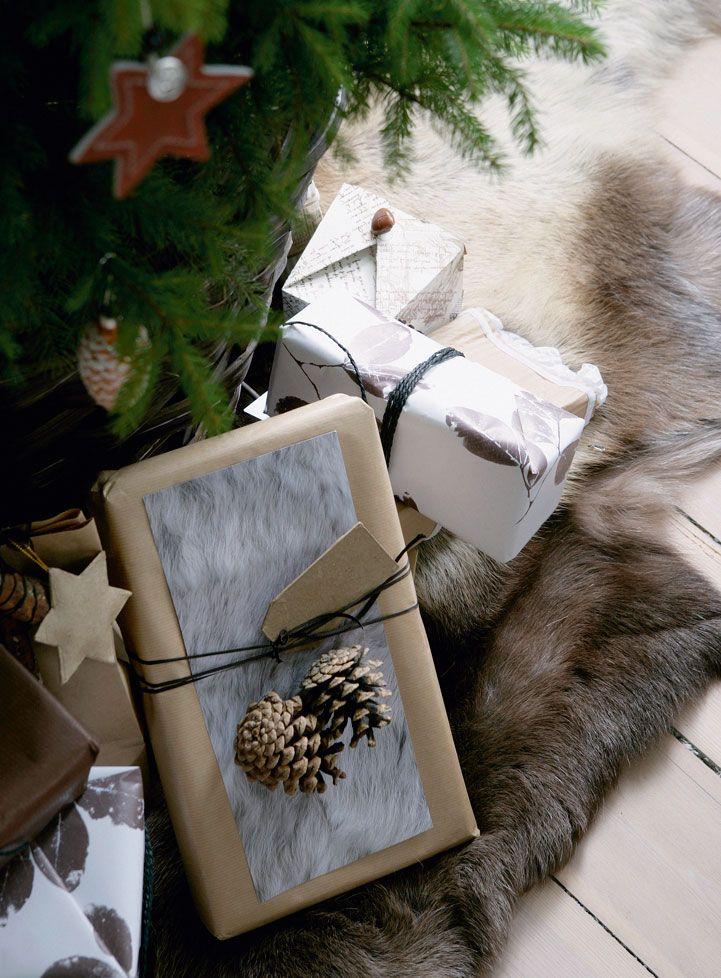 paquet cadeau perso SANOFLORE Pinterest Pine cone, Pine and Wraps
