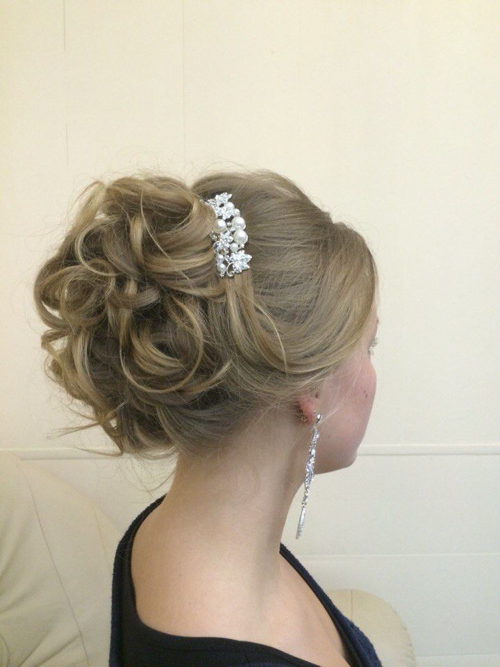 Bridal hair trial - up do in classic style by Elstile (elstile.com)