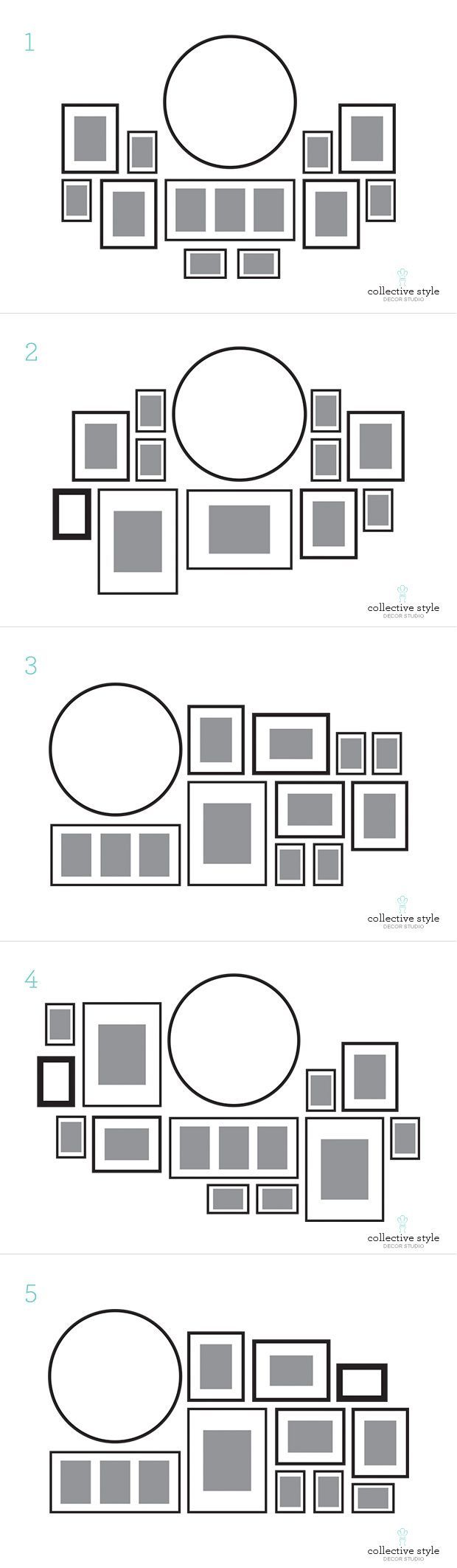 Kitchen Wall Clock Decor Ideas Layout For My Gallery Wall I Started With A Large Round Clock
