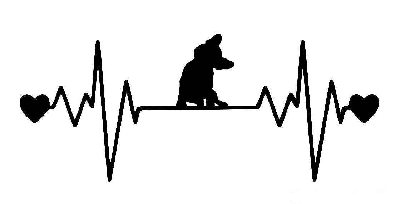 French Bulldog Heartbeat Vinyl Decal