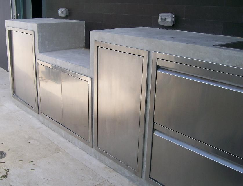 Appealing Outdoor Kitchen Stainless Steel Cabinets Outdoor Kitchen