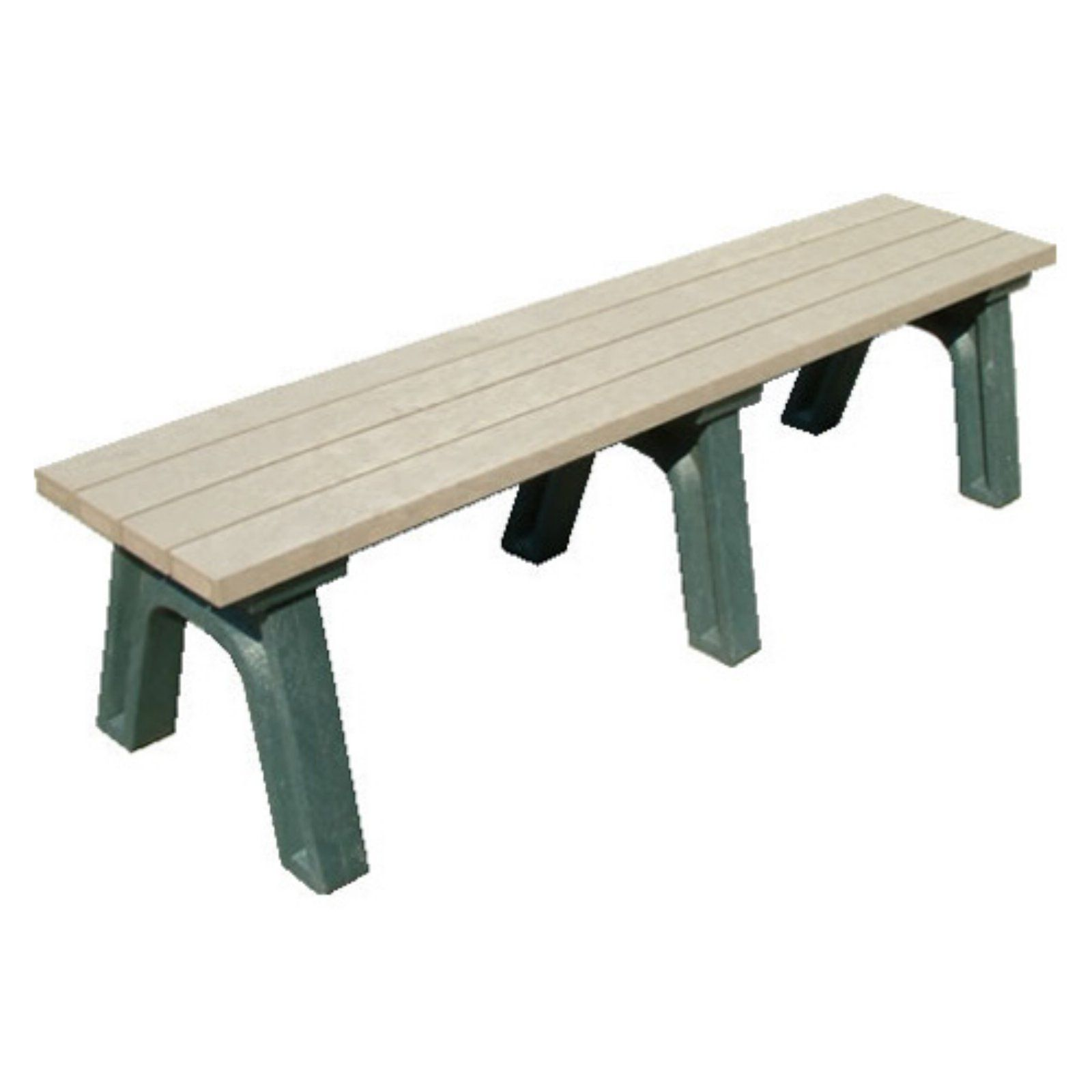 Miraculous Outdoor Polly Products Deluxe Recycled Plastic Flat Bench Gmtry Best Dining Table And Chair Ideas Images Gmtryco
