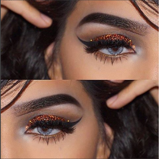 c4d426707a9 Glitz and glamour with @the_belleza_'s glitter eye look topped off with # Ardell 'Double Up' in 203!