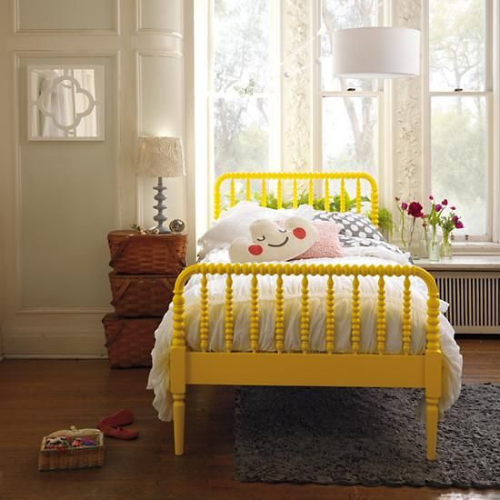 Twin Jenny Lind Bed Yellow In Beds The Land Of Nod Yellow