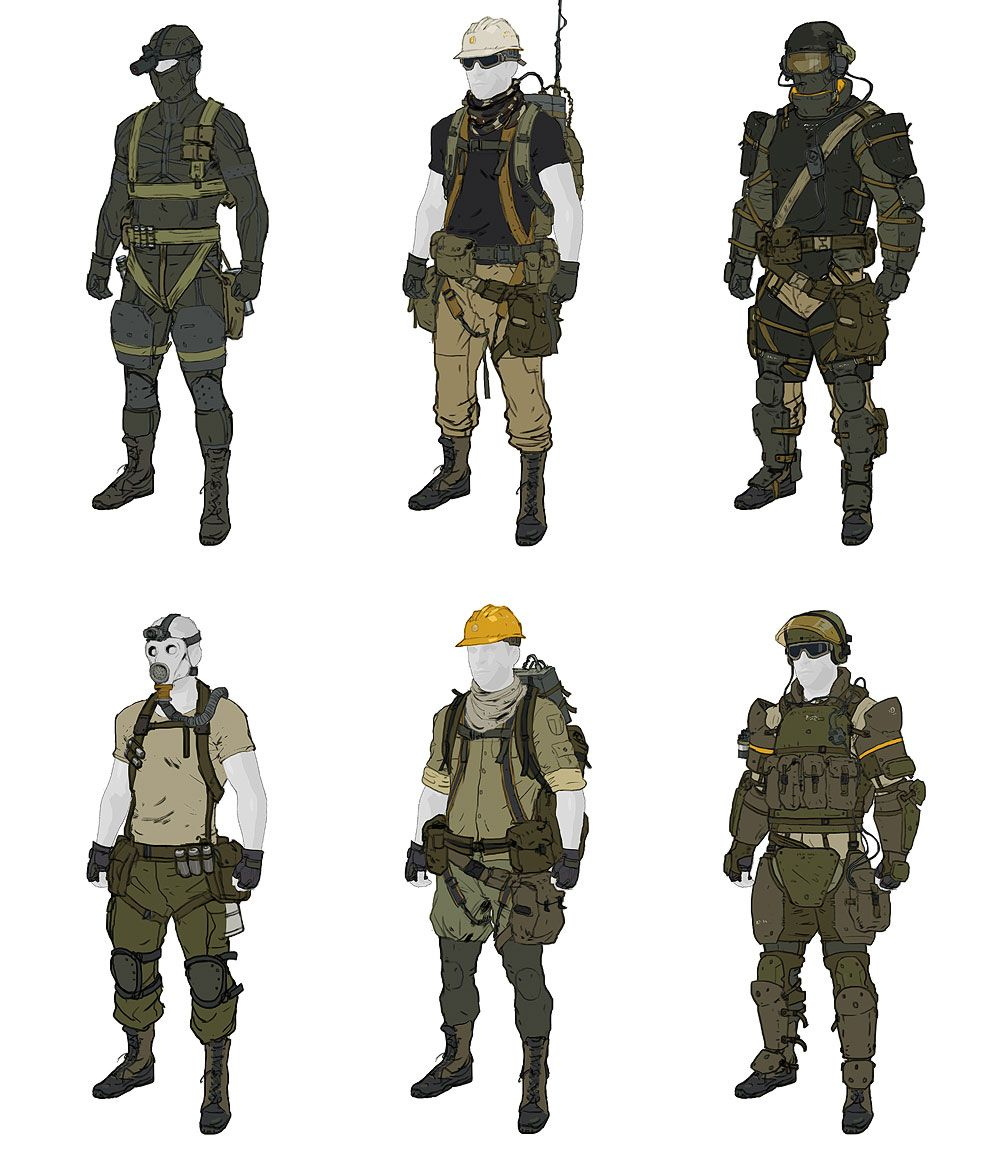 Gear Designs from Metal Gear Online