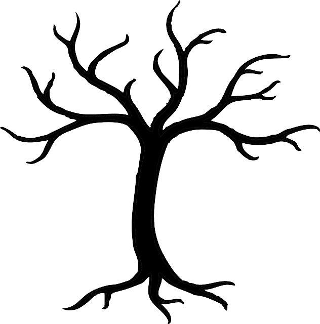 Free Image On Pixabay Tree Dead Dried Branches Trunk Tree Stencil Button Art Tree Clipart