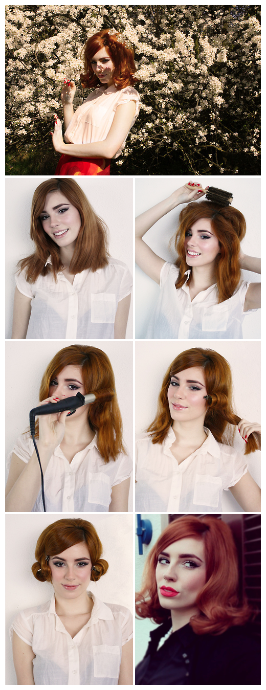 HOW TO SIXTIES HAIR TUTORIAL By Vanessa This Hair Tutorial Presents An Easy Way To Get A Cute Sixties Hairstyle