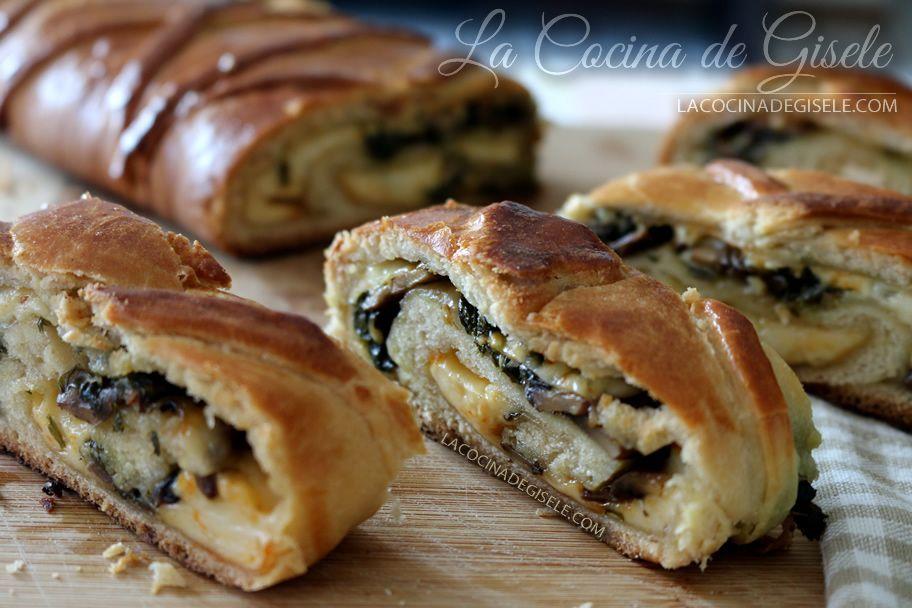 Rollo de pan con queso y vegetales | La Cocina de Gisele