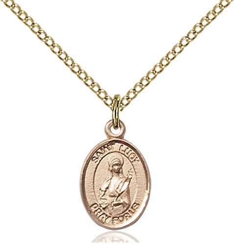 St. Lucy Pendant (Gold Filled) by Bliss | Catholic Shopping .com