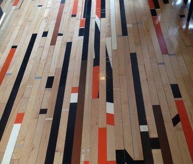 Reclaimed Wood Flooring Basketball Court Google Search Gym Flooring Flooring Colorful Interior Design