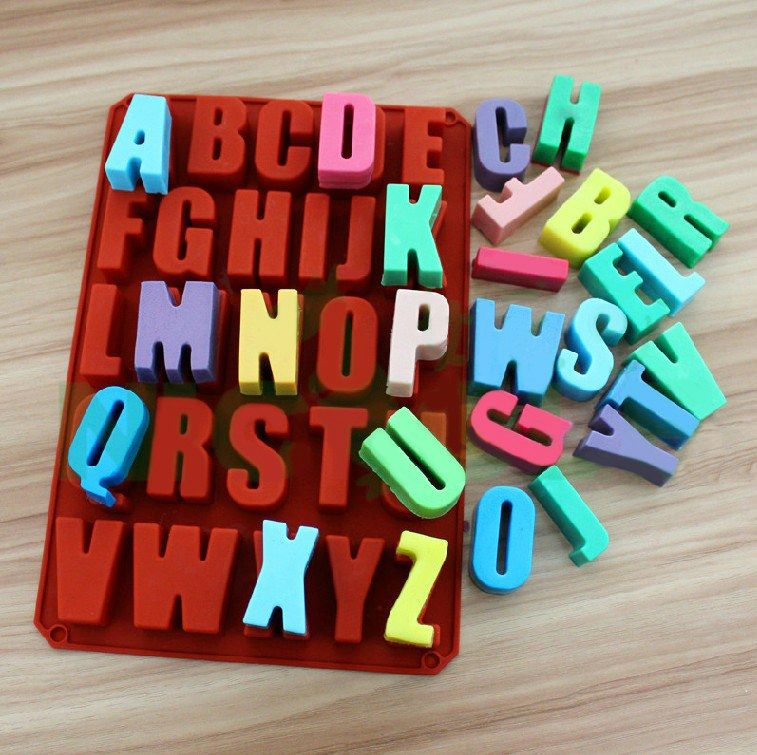 38 Off 26 English Letters Fondant Mold Candy Mold