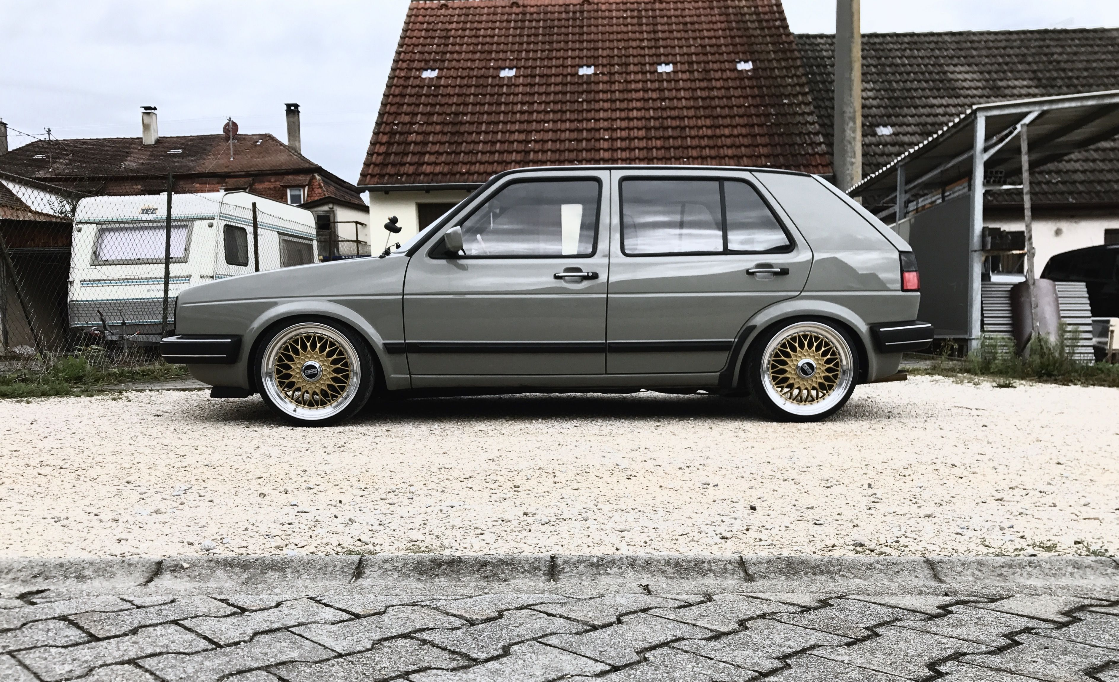 vw golf 2 mk 2 volkswagen bbs gold retro oldschool classic. Black Bedroom Furniture Sets. Home Design Ideas