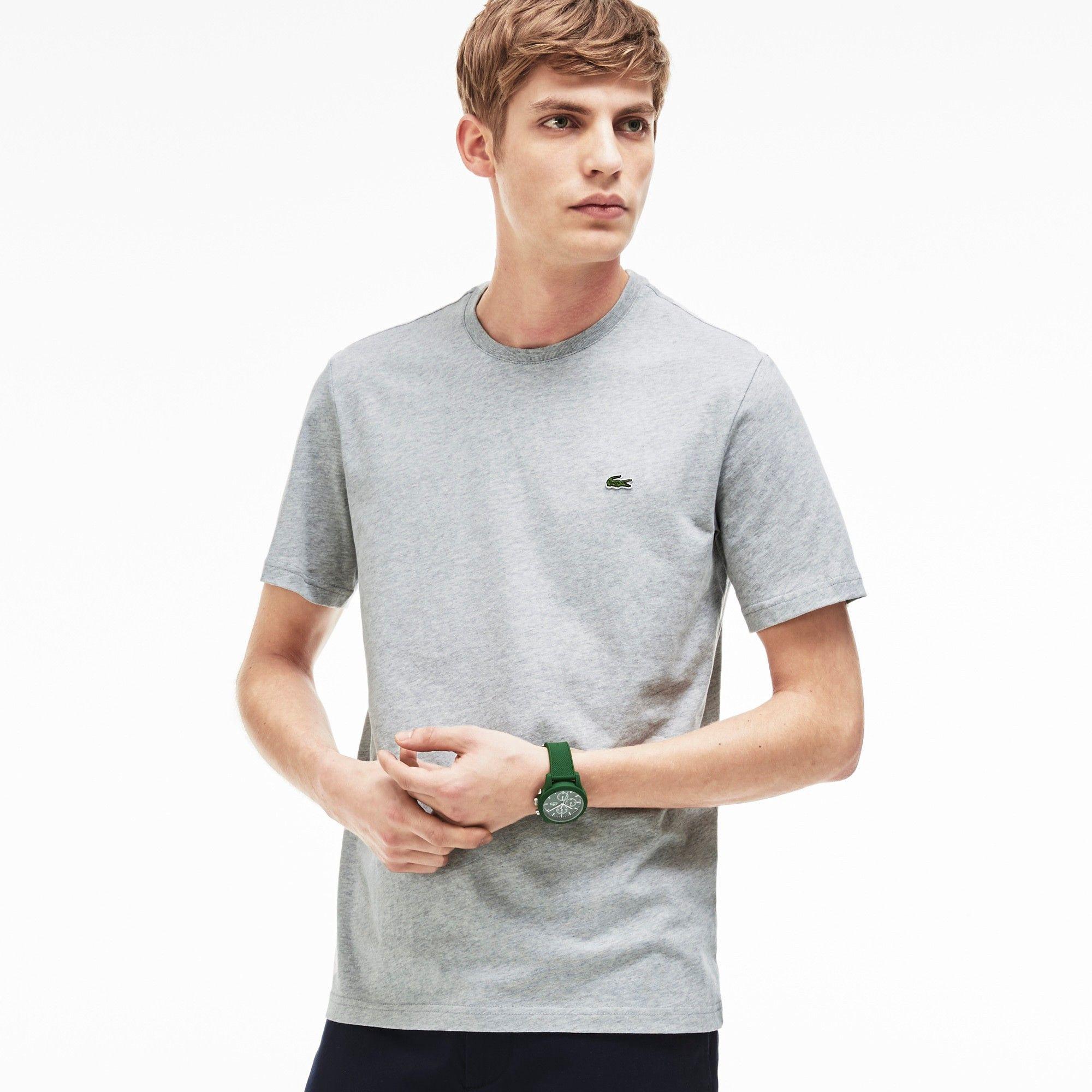 3eabe50c9d6 LACOSTE Men s Logo T-Shirt - silver grey chine.  lacoste  cloth ...