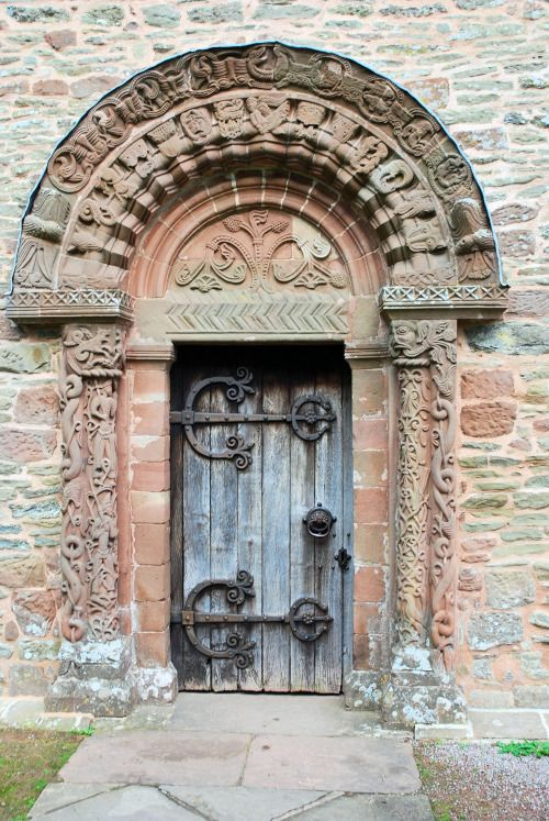 Museum of artifacts  Norman doorway mid 12th century at Kilpeck Church England & Museum of artifacts : Norman doorway mid 12th century at Kilpeck ...