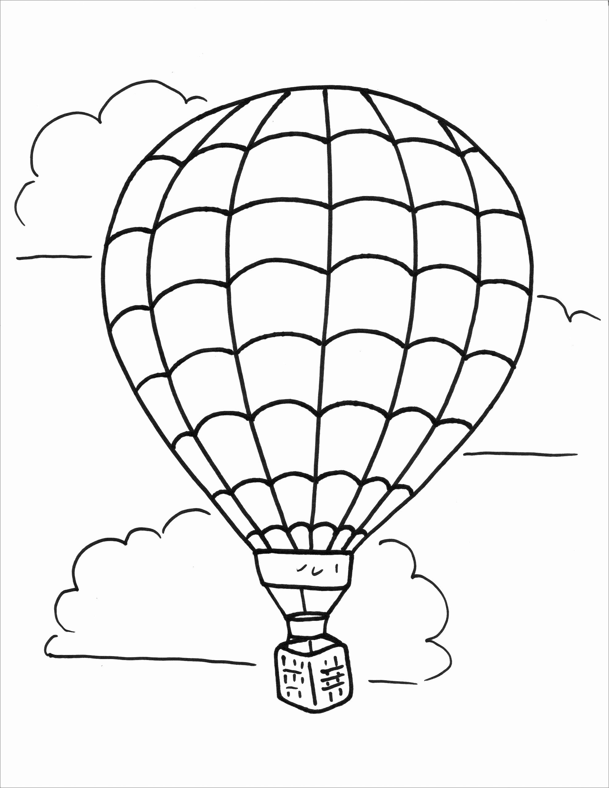 Hot Air Balloon Coloring Page Fresh Coloring Pages Coloring Hot Air Balloones Birthdaye Free In 2020 Air Balloon Hot Air Balloon Drawing Balloon Template