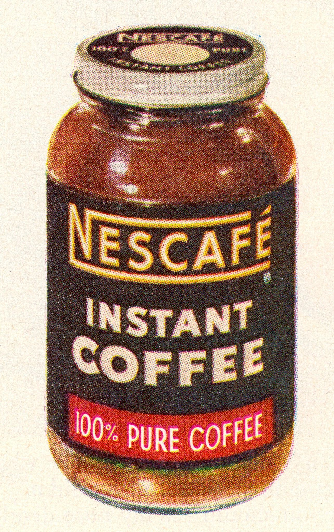 what is instant coffee made of