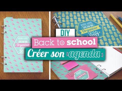 diy back to school cr er son agenda back to school agenda scolaire et diy cole. Black Bedroom Furniture Sets. Home Design Ideas