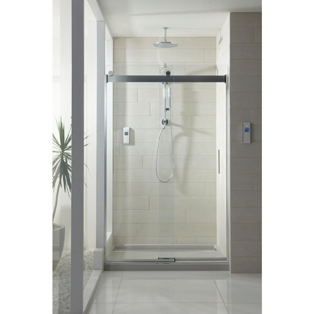 Convey An Inventive Look To Your Shower Area By Choosing Levity Semi Framed  Bypass Shower Door With Handle In Silver From KOHLER.