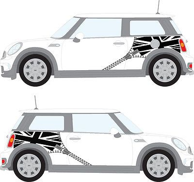 Side Racing Stripes Car Graphics Union Flag With Zipper Ebay Car Racing Stripes Car Sticker Design