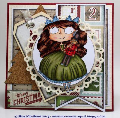 Christmas Clara stamp