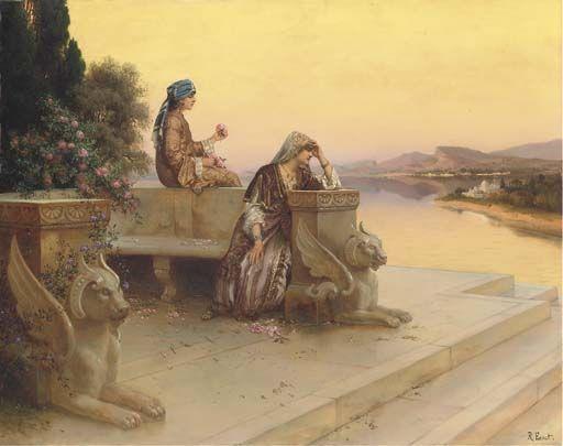 Rudolf Ernst - Jeunes femmes sur la terrasse
