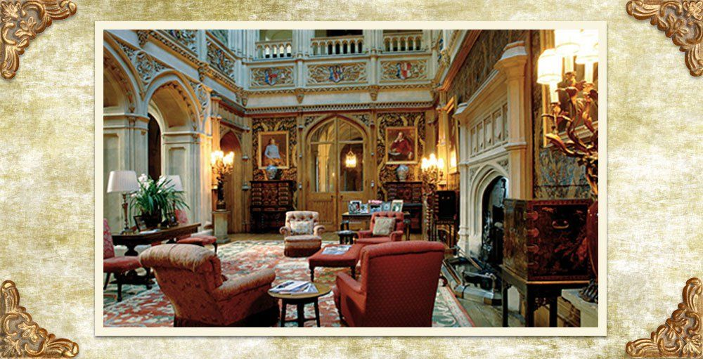 downton abbey decor the saloon at highclere castle highclere castle downton abbey. Black Bedroom Furniture Sets. Home Design Ideas