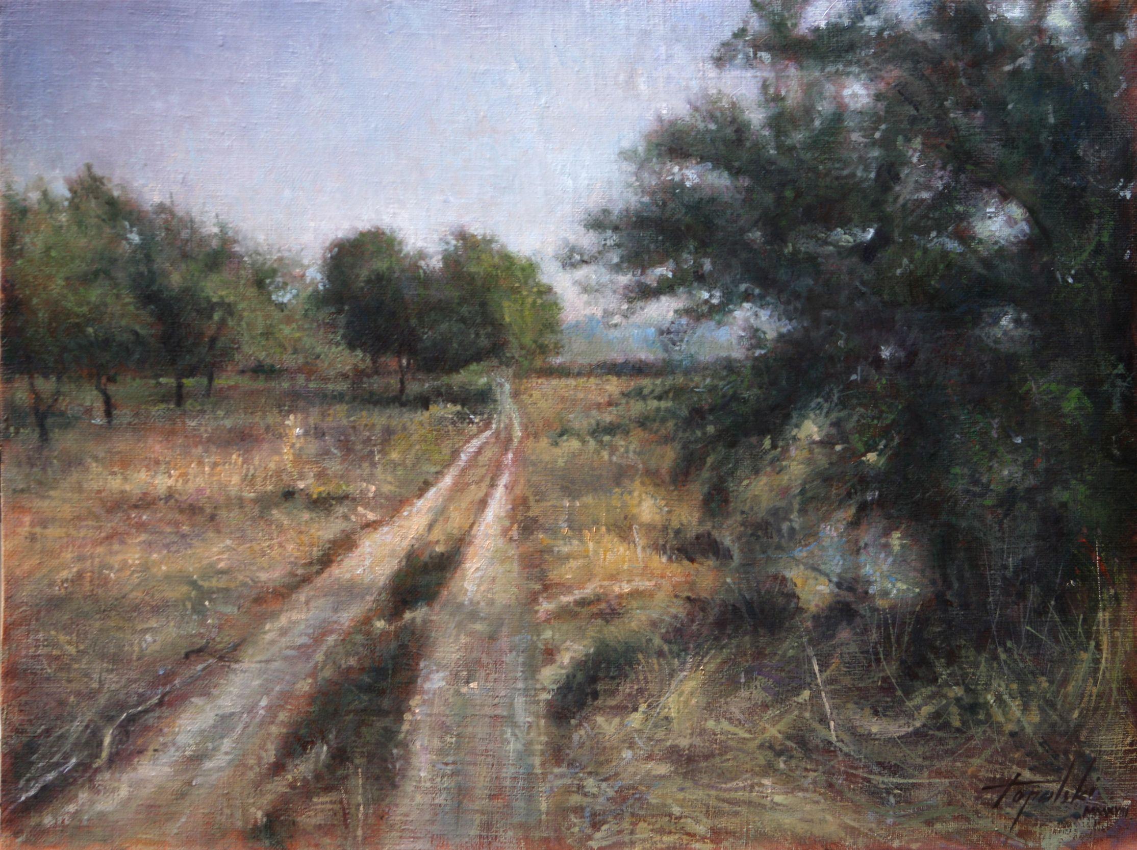 Fine Art Country Road Original Oil Painting On Canvas By Artist Darko Topalski Fine Art Painting Oil Oil Painting Landscape Oil Painting