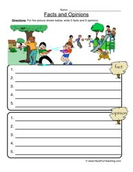 Fact Opinion Worksheet | Worksheets, Language and Activities