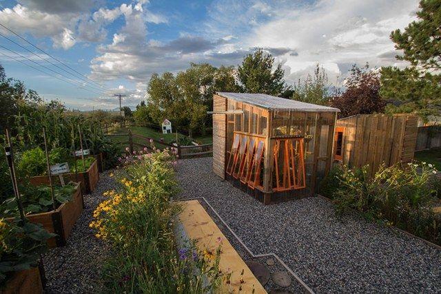 Gartengestaltung Holz-Pavillon Garten-gewächshaus pflanzkübel ...