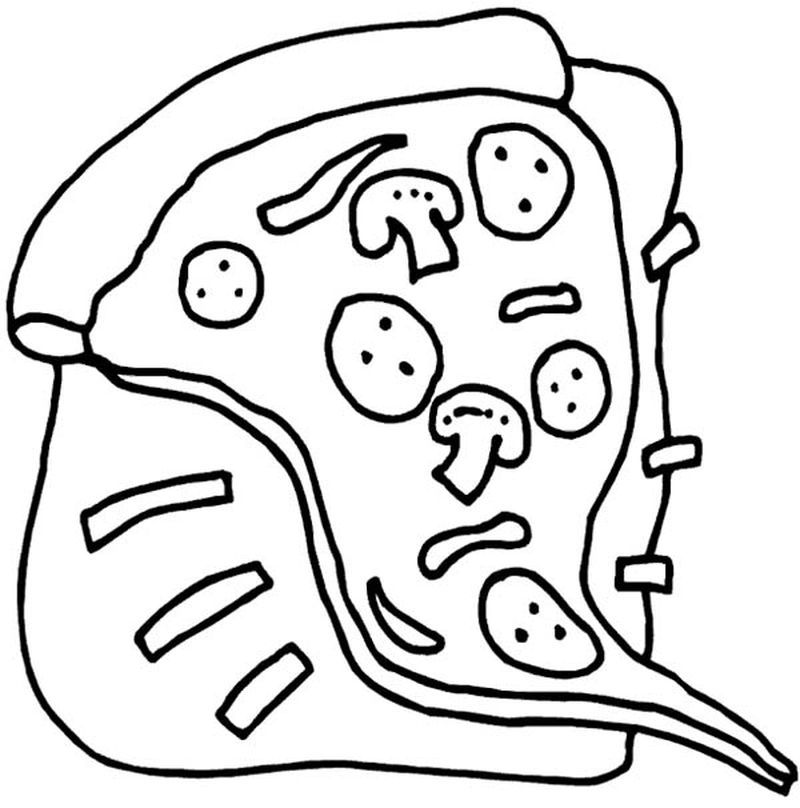 Pizza Coloring Pages Printable Di 2020