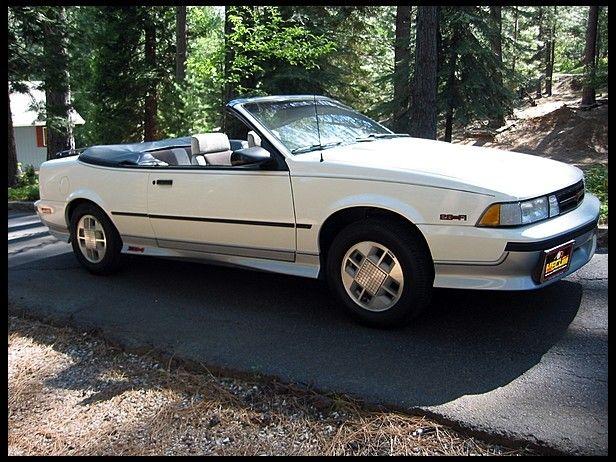 T6 1988 Chevrolet Cavalier Z24 Convertible 2 8l Automatic
