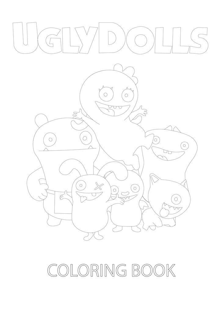 Uglydolls Coloring Book Instant Download Pdf Printable Coloring Book Coloring Pages Printable Coloring Book Coloring Books