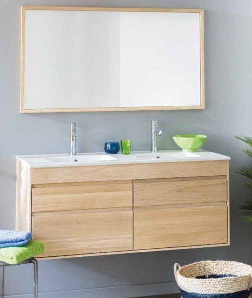 Meuble de salle de bain en chêne massif Les meubles suspendus sont - meuble salle de bain en chene massif