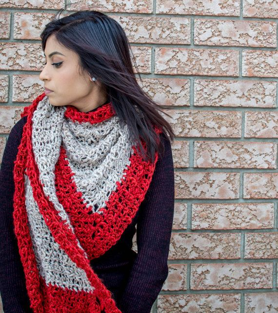 Winter Shawl  Evening Shawl  Bridal Shawl  Winter by AichasDesigns