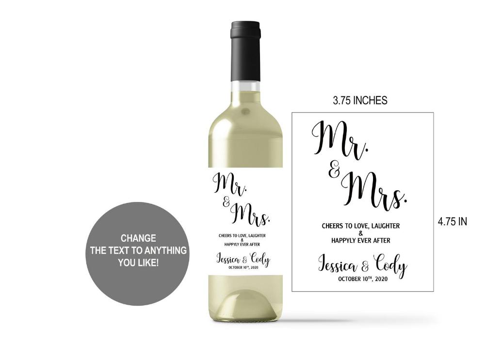 Wedding Wine Labels Wine Bottle Label Stickers Wedding Favors Etsy Bottle Labels Stickers Wine Label Template Wine Bottle Labels