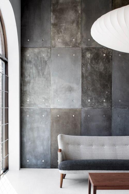 Style And Create Concrete Panel In A Showroom In Montreal Canada Interior Home Decor Decor