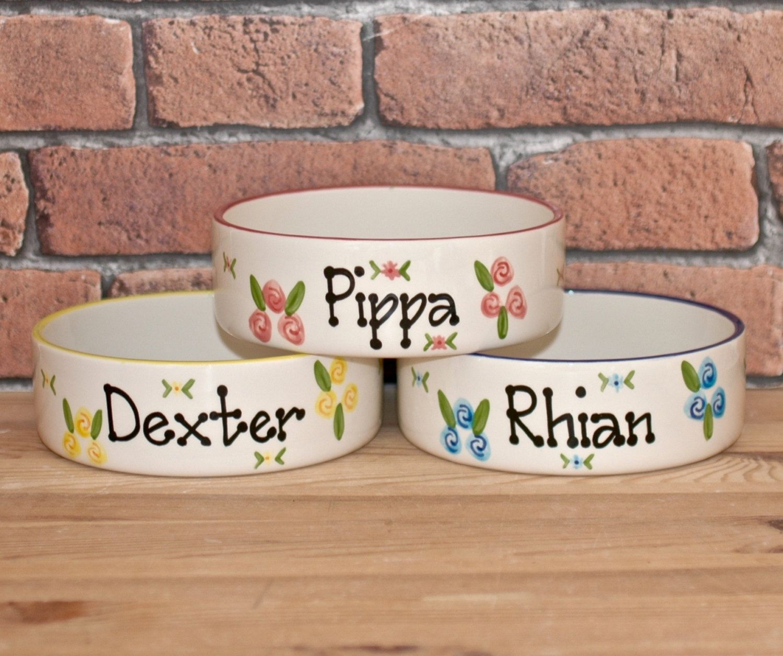 Medium Dog Bowl Dog Bowl Dog Food Bowl Personalised Dog Bowl Ceramic Dog Bowl Custom Dog Bowl Dog Water Bowl Dog Food Holder Dog With Images Ceramic Dog Bowl Ceramic Dishes