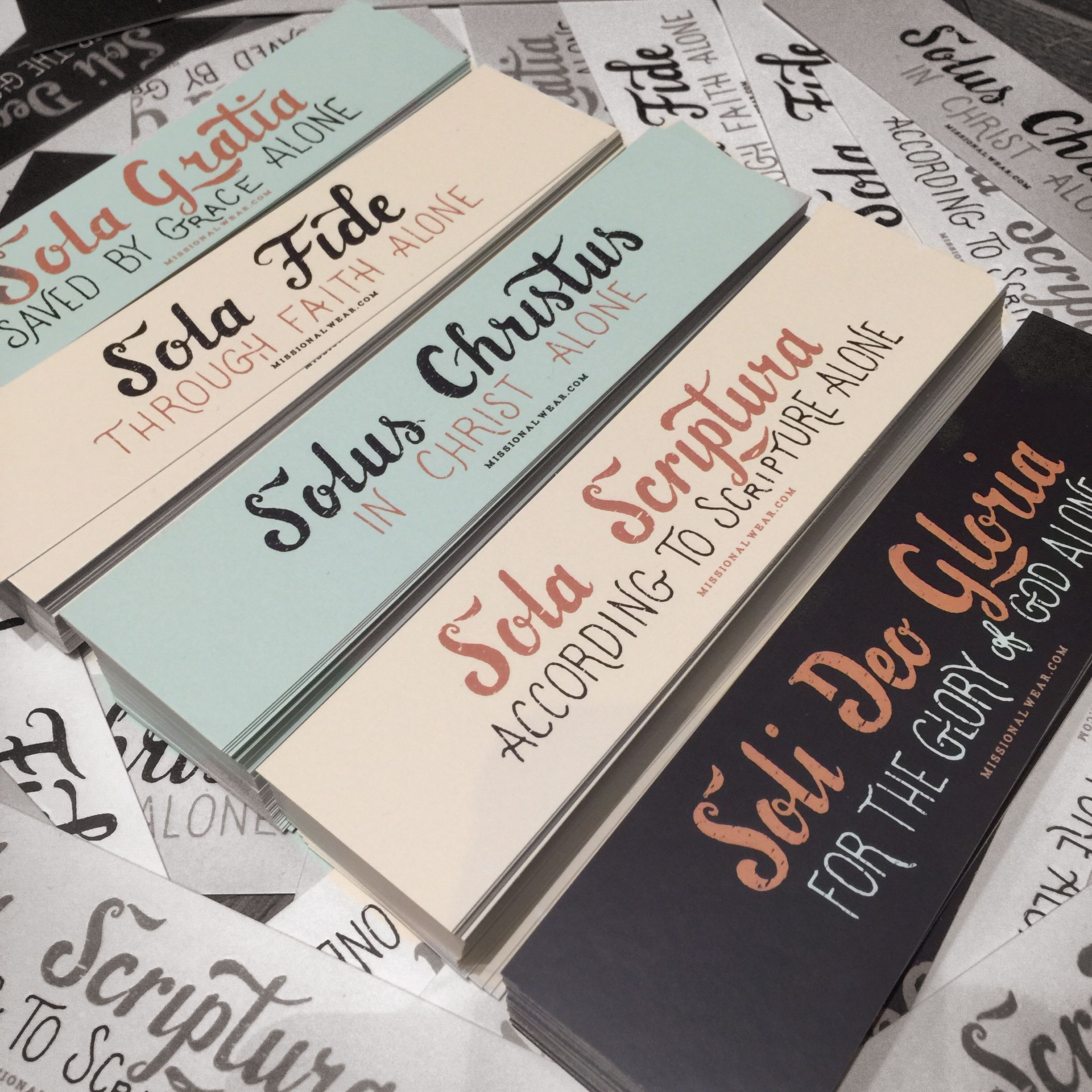 The Five Solas Bookmarks Reformation Day Sola Scriptura Reformed Theology