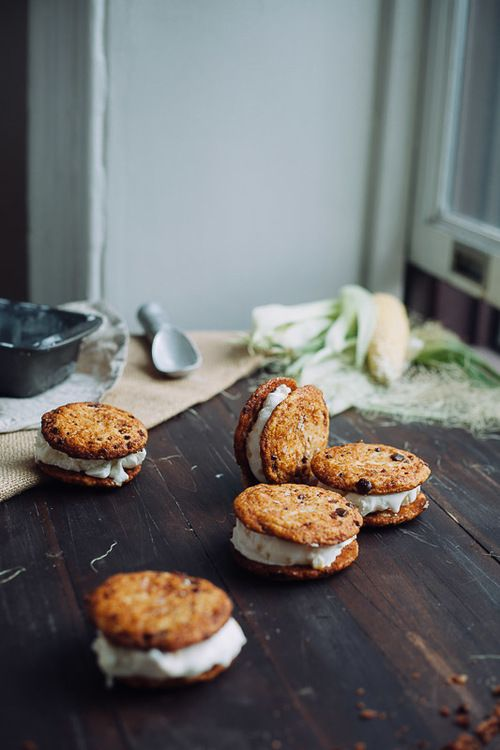 Bacon and Sweet Corn Ice Cream Sandwiches | My Name Is Yeh x Two Red Bowls