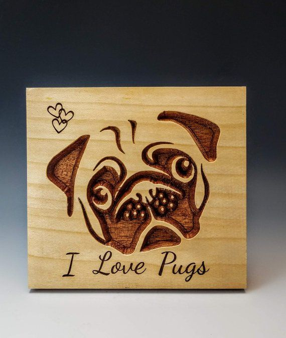 Kids room sign, Pet Area Sign, Pug Dog Sign, Wood Sign, Love Pug Sign , Housewarming Gift, Custom Wood Sign, Wood Plaque Shelf Sign, 25SIGN