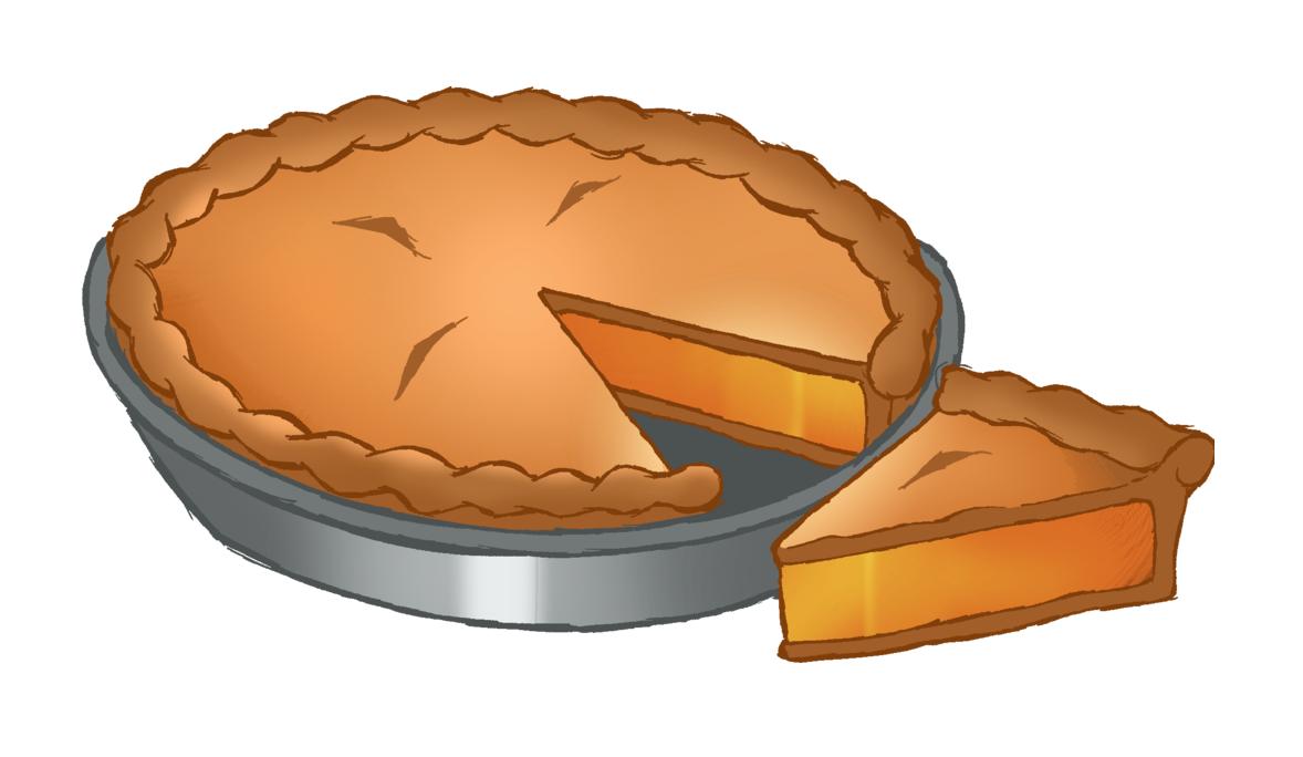 Картинка нарисованного пирога