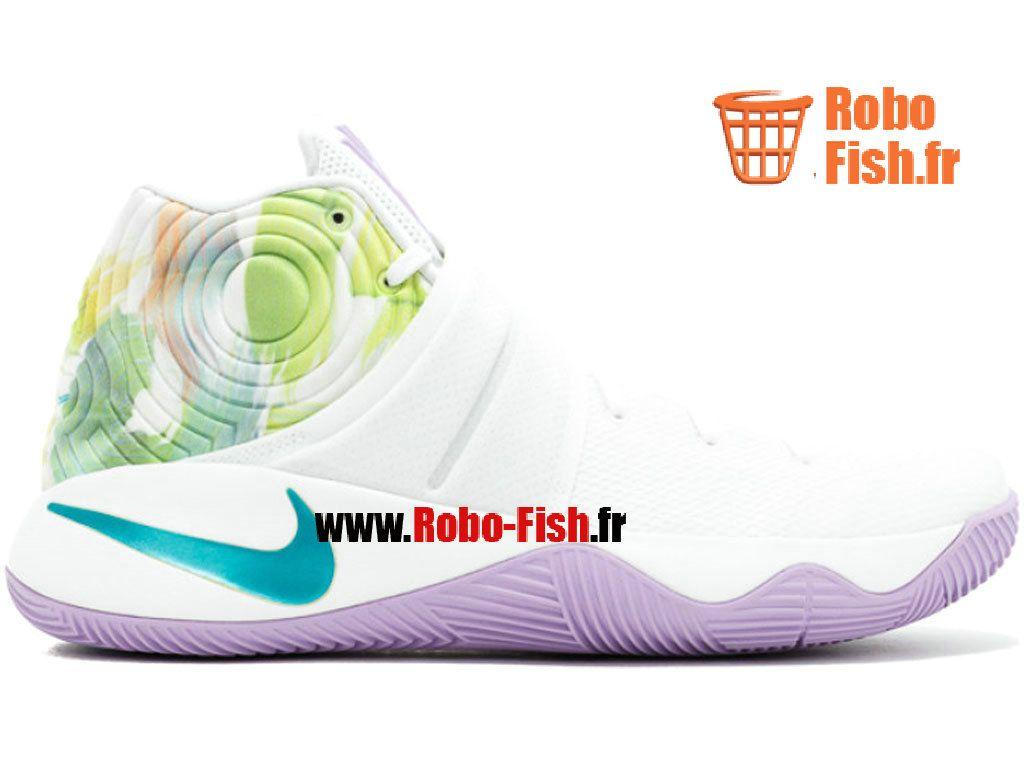 Nike Kyrie 2 Chaussure de Basket ball Pas Cher pour Homme Blanc