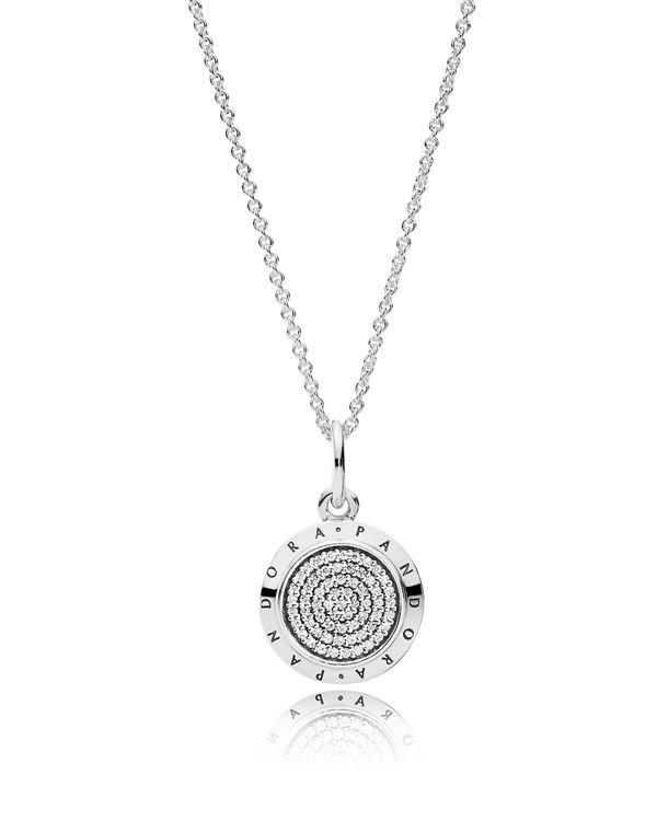 57807cd6e07e3 Pandora Necklace - Sterling Silver & Cubic Zirconia Signature ...