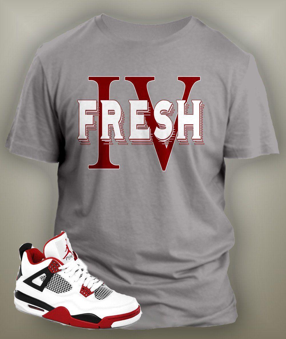 a28fecf90 T Shirt To Match Retro Air Jordan 4 Shoe Custom Mens Tee Design Sizing S M  L XL XL-Tall 2XL 2XL-Tall 3XL 3XL-Tall LENGTH 28